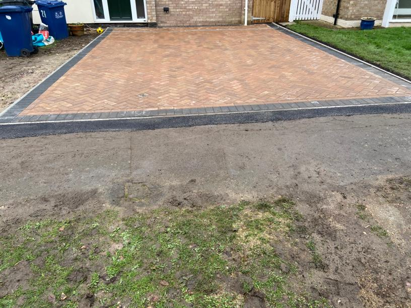 After Block Paving Driveway
